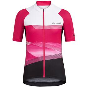 VAUDE Majura II Maglietta con zip Donna, rosa/bianco